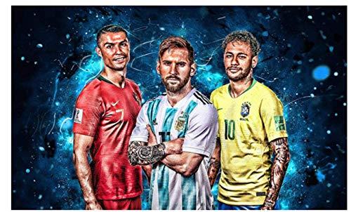 JYSHC Ronaldo Messi Neymar Estrella De Fútbol Lienzo Póster Cuadros Artísticos De Pared Decoración para Sala De Estar Cp505Sw 40X60Cm Sin Marco