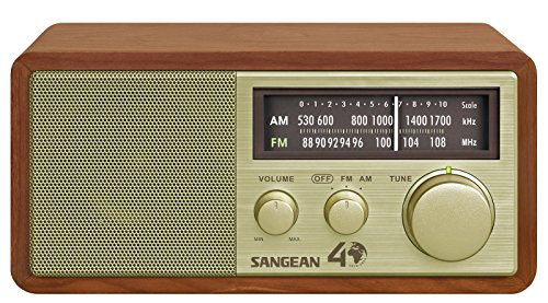 Sangean WR-11SE AM/FM Table Top Radio 40th Anniversary Edition Walnut