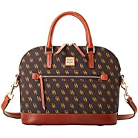 Dooney & Bourke Domed Zip Satchel Handbag (Brown Tmoro)