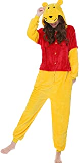 Adult Unisex Winnie Cosplay Costume Pooh Pajamas Onesie