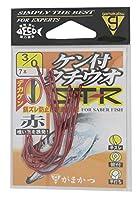 がまかつ(Gamakatsu) バラ ケン付タチウオ ST-R(赤) #3/0.