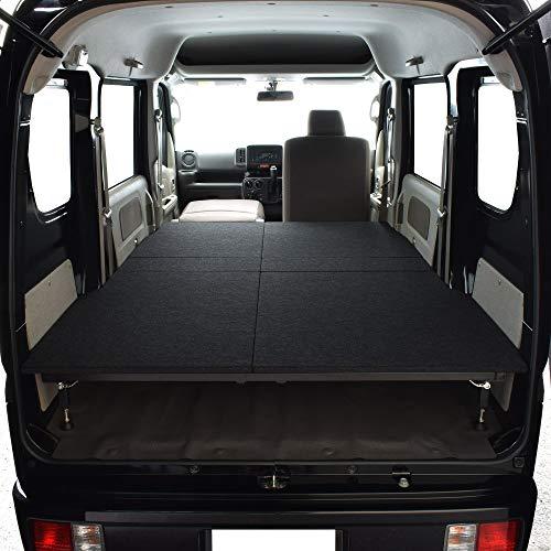 エブリィ バン DA17V JOIN 専用 両側延長 ベッドキット ブラック パンチカーペット エブリィ ベッド エブリィ車中泊 ベットキット DA17V マット 荷室 棚 EVERY 車中泊 日本製