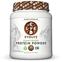Vegetable Based and Plant Powered Protein  andndash; EVOLVE Protein Powder is a real plant powered protein source that provides 20 grams for protein for sustained energy to help support your active lifestyle Good; Simple; Protein; Andndash; Evolve Pr...