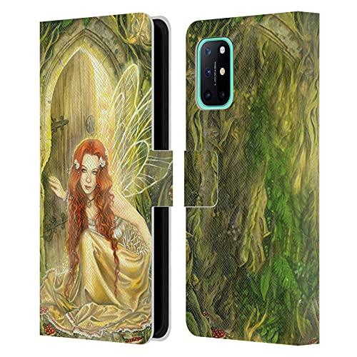 Head Case Designs Licenciado Oficialmente Selina Fenech Umbral Hadas Carcasa de Cuero Tipo Libro Compatible con OnePlus 8T 5G