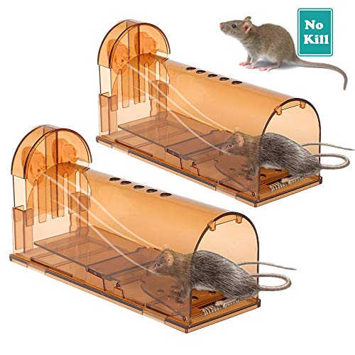 2PCS Mouse Trap, Reusable Animal Trap, Used for Mouse Traps In Offices and Warehouses. (Green)