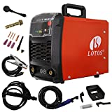 LOTOS Technology TIG140 140 Amp IGBT Stick/Lift Start DC TIG Welder, Maximum 100amp Output Under...