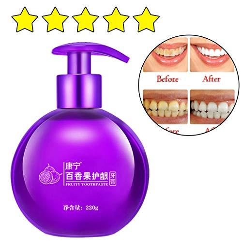 AMhomely ❤️Obst Frischer Atem/Whitening Zahnpasta❤️,Intensive Fleckenentfernung Whitening Zahnpasta/Fleckenentfernung Whitening Zahnpasta gegen Zahnfleischbluten Zahnpasta (Passionsfrucht)