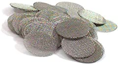 50 Pack of Our 3/4-inch | .75 | 16 mm - Proudly Made in the USA 304 Stainless Steel Fine (60) Mesh Pipe Screens Consistent shape and size for that perfect fit. Thin enough to form and thick enough to last for several smokes. Buy with confidence from ...