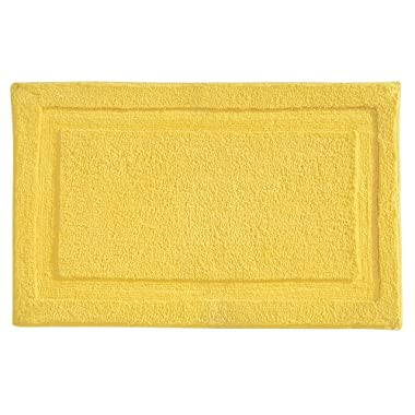 "InterDesign Microfiber Spa Bathroom Accent Rug, 34"" x 21  Inches, Yellow"