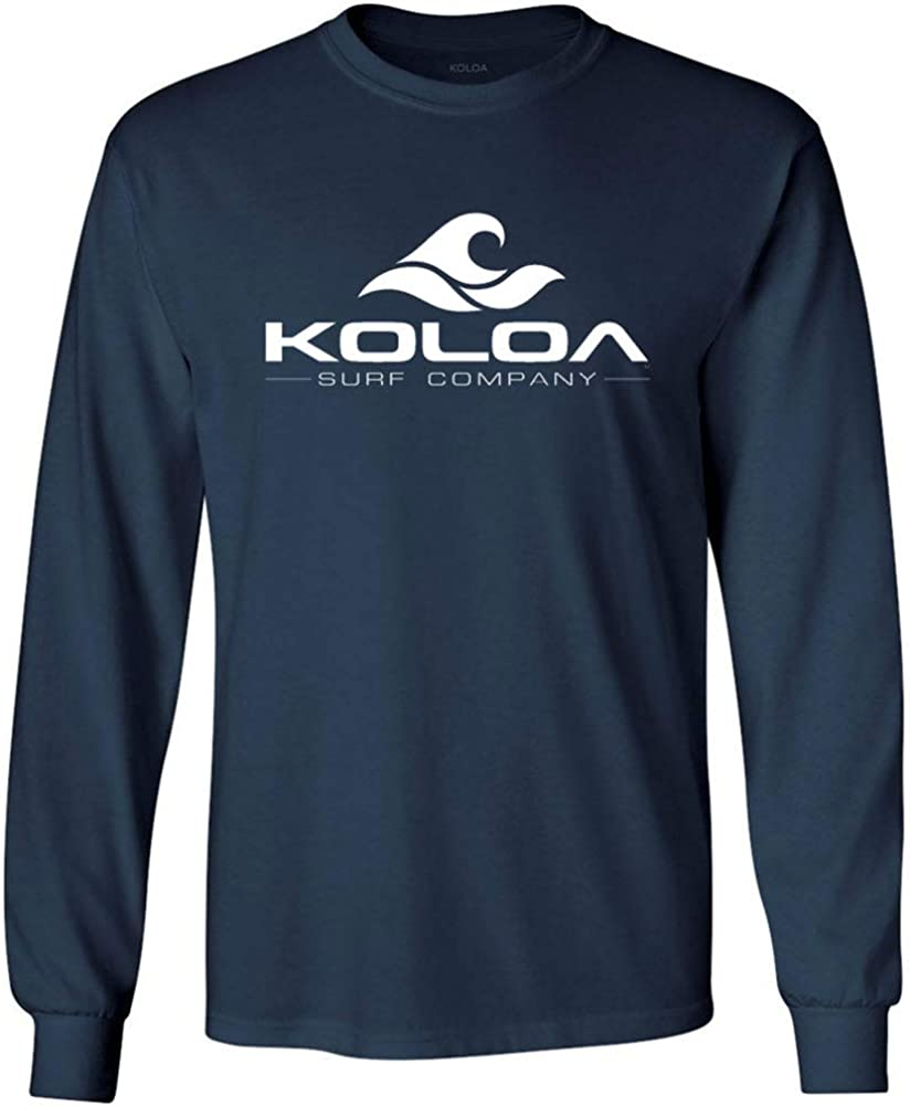 Koloa Cheap SALE Start Surf. Wave 5% OFF Logo Tall Cotton Long Heavy Sleeve T-Shirts-3XL