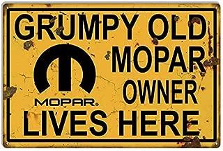 Emmett Holmes Tin Vintage Metal Sign Door Mopar Old Grumpy Owner Garage for Men Home Decor Poster House Rules Wall Art Decor 8X12 inch
