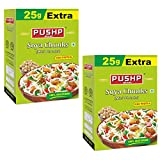 Pushp Brand SOYA Chunks Mini Pack of 2 - High Protein and Pure Vegetarian, SOYA Wadi (450g)