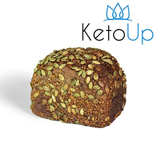 KetoUp: Frisches Low Carb Walnussbrot | Ketogene und Low Carb Ernährung | Sportnahrung | Gesunde Ernährung | enthält maximal 3% Kohlenhydrate - 550g