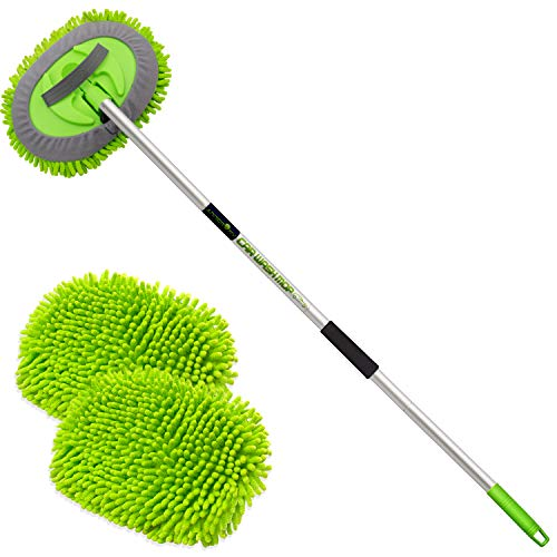 "anngrowy 62"" Microfiber Car Wash Brush Mop Kit Mitt Sponge"