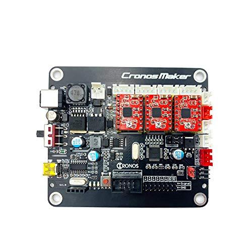 Kit de controlador de impresora 3D CNC 3D, controlador de 3 ejes GRBL, placa de control de gravedad DIY para GRBL,1610,2418,3018