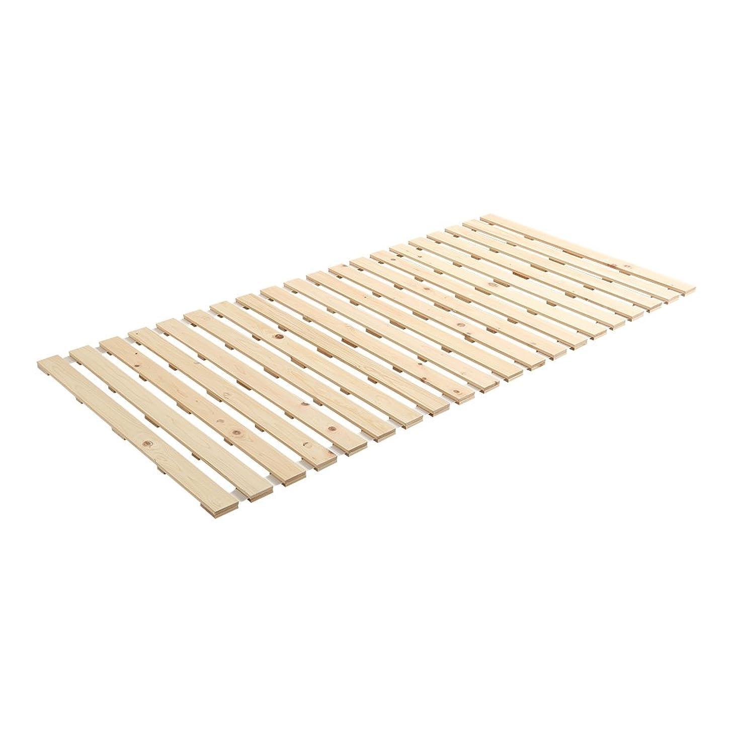 かけがえのないやがてアグネスグレイすのこマット すのこベッド ロール式 国産檜 シングル ベッド 折りたたみ 折り畳み すのこベッド 檜 すのこ ロール 木製 湿気