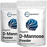 2 Pack Organic D Mannose Powder, 100 Grams (3.5 Ounce), Pure Mannose Supplement, Urinary Tract Cleanse and Bladder Health for Women and Men, No GMOs and Vegan Friendly
