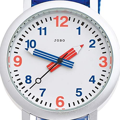 JOBO Kinder-Armbanduhr helllbau blau Quarz Analog Aluminium Kinderuhr