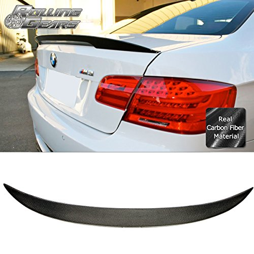 Rolling Gears Carbon Fiber Trunk Lid Spoiler for E92 2-Door Coupe 2007-2013, Performance Style