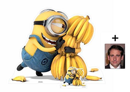 Fan Pack - Minion holding Bananas Despicable Me 3 / Ich Einfach unverbesserlic 3 Minions Lebensgrosse und klein Pappaufsteller - mit 25cm x 20cm foto