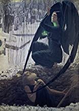 Posterazzi Grave-Digger or The Angel of Death (La Mort du Fossoyeur) Carlos Schwabe (1866-1926 French) Musee d`Orsay Paris Poster Print, (18 x 24)