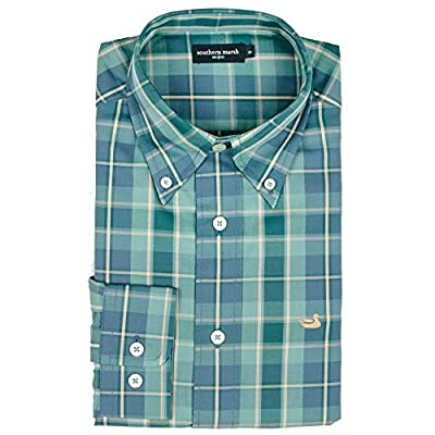 Southern Marsh Men's Hudson Plaid Dress Shirt