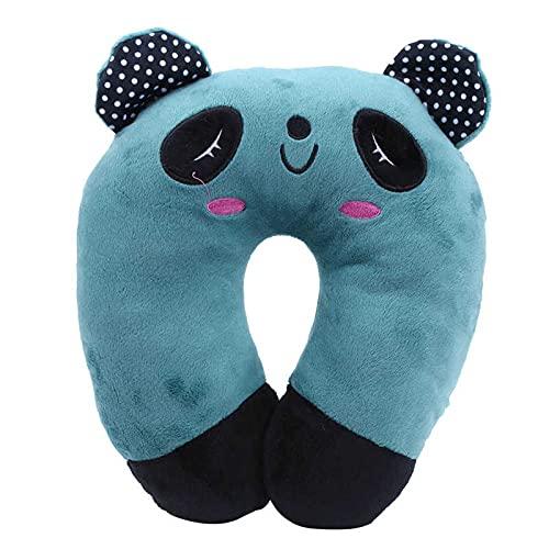 Meijin Reposacabezas suave en forma de U, almohada inflable de vuelo de aire, cojín de enfermería para coche, almohada de viaje, cuello para niños y adultos (color: azul)