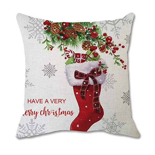 Kekison Stylish Christmas Home Lumbar Pillow Covers Back Protective Sofa Waist Cushion Cover For Uk Families
