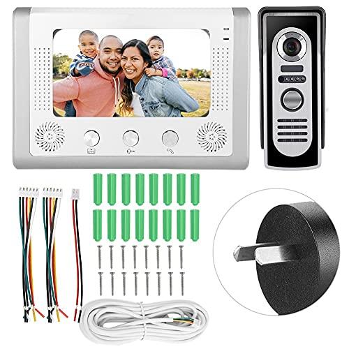 Timbre con video, pantalla LCD en color Timbre con cable Pantalla TFT-LCD en color a color Timbre de pared con cable Timbre con cable para patio para exteriores(Australian regulations (100-240V))