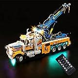MBKE Juego de luces para LEGO 42128 Technic Heavy Duty Tow Truck, kit de iluminación LED de control remoto compatible con LEGO 42128, cable USB