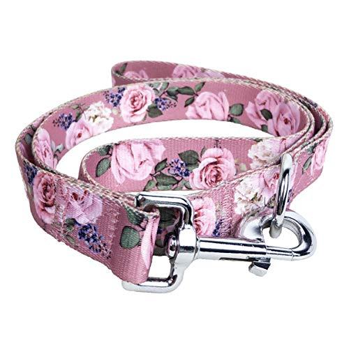Owani Hundeleine Flashy Flowers | pink | Führleine Blumen rosa | Rosen | für Hunde | Leine Hund | Zubehör