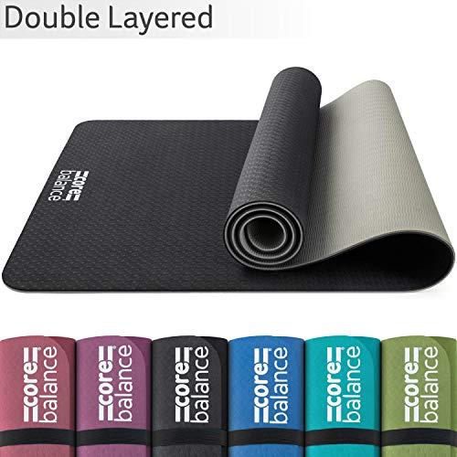 CORE BALANCE Tappetino Yoga in TPE - Spessore 6mm, Antiscivolo, Ecologico, Resistente, per Pilates Fitness, Tracolla da Viaggio, 183cm x 65cm - Disponibile in 6 Colori