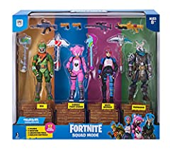 """Ragnarok, Rex, Cuddle Team Leader and Brite Bomber 4"""" action figures - inspired by four of the most popular outfits from Epic Games' Fortnite. 19 points of articulation Highly detailed decoration Ragnarok, Rex, Cuddle Team Leader and Brite Bomber are..."""