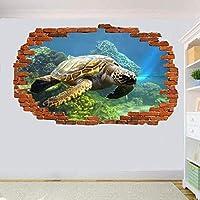 NIUASH ウォールステッカー オーシャンリビングルームのコーラルウォールステッカーオフィスデコレーションステッカー壁画50x70cm