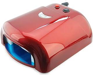 PORIN Lámpara UV de secador de uñas 36W 220-240V con 4 Piezas 365Nm Bombilla UV Herramientas de Bricolaje Calefacción Uniforme Fácil de operar Función de temporización Extraíble y reemplazar