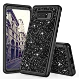 TILL for Galaxy Note 8 Case, TILL Luxury [Sparkle Sequins] Crystal Bling Glitter Shiny Case Hybrid Layer TPU Soft Inner Hard PC Protective Cute Case Cover Defender for Samsung Galaxy Note 8 [Black]