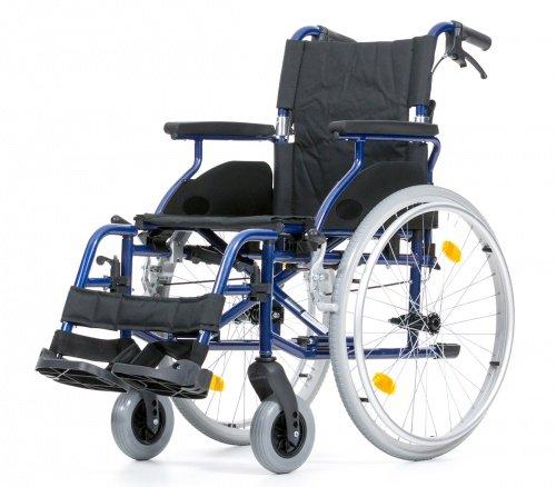 Leichtgewichtrollstuhl Bison 2 Blue faltbarer Rollstuhl Reiserollstuhl Größe 45 cm