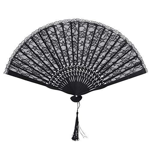 Abanico de mano de bambú, abanico plegable de mano para danza, para accesorios de actuación,...