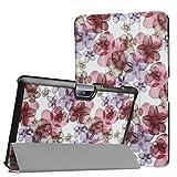 WiTa-Store Étui de protection pour Acer Iconia Tab One 10 B3-A30 B3-A32 A3-A40 25,6cm (10,1') Frühlingsblüten