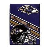 NFL Baltimore Ravens 'Slant' Raschel Throw Blanket, 60' x 80'