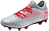 Puma Future 4.4 Fg/ag Botas de fútbol Hombre, Gris (Glacial Blue-Nrgy Red-High Risk Red 01), 42.5 EU