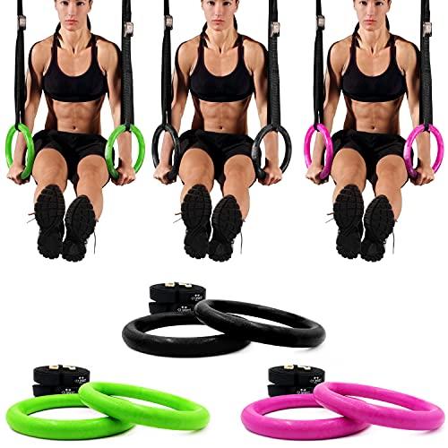 C.P. Sports - Anillos de Entrenamiento para Crossfit, Accesorio de Fitness, Color Negro, Talla única