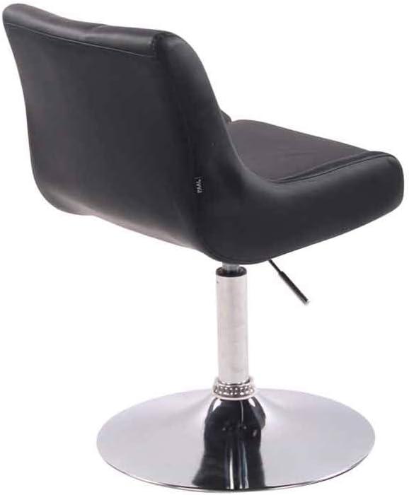 CLP Fauteuil Lounge Club Rembourré Revêtement Similicuir I Chaise Lounge Confortable Pivotante Hauteur Réglable Coussin de Siège Dossier Haut I, Couleurs:Noir Noir