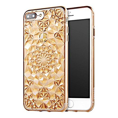 BubbleGum Cases Carcasa para iPhone 6 y 6S, diseño de diamantes de imitación de silicona suave para todos los modelos de iPhone (iPhone 6, 6S, dorado)