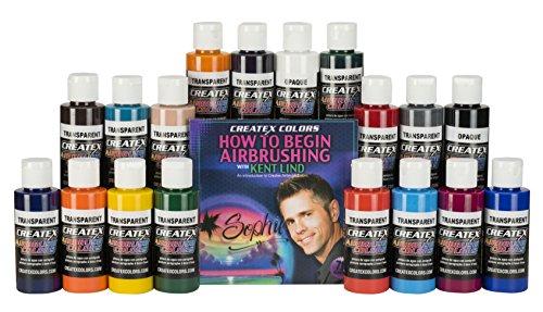 Createx Colors 18 Color Airbrush Set