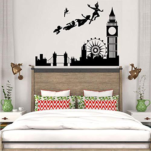 kldfig muursticker voor kinderkamer sticker Londen cartoon piraten muurschildering kinderen jongens kinderkamer slaapkamer wooncultuur modern 57 * 74 cm