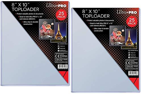 Ultra Pro Transparenter Toploader 20,3 x 25,4 cm (25 Count), Clear (2-Bundle)
