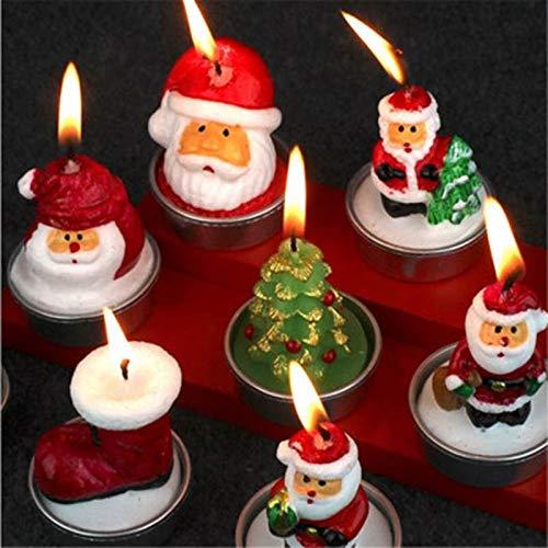 Keepbest - Vela navideña con diseño de Papá Noel y muñeco de Nieve