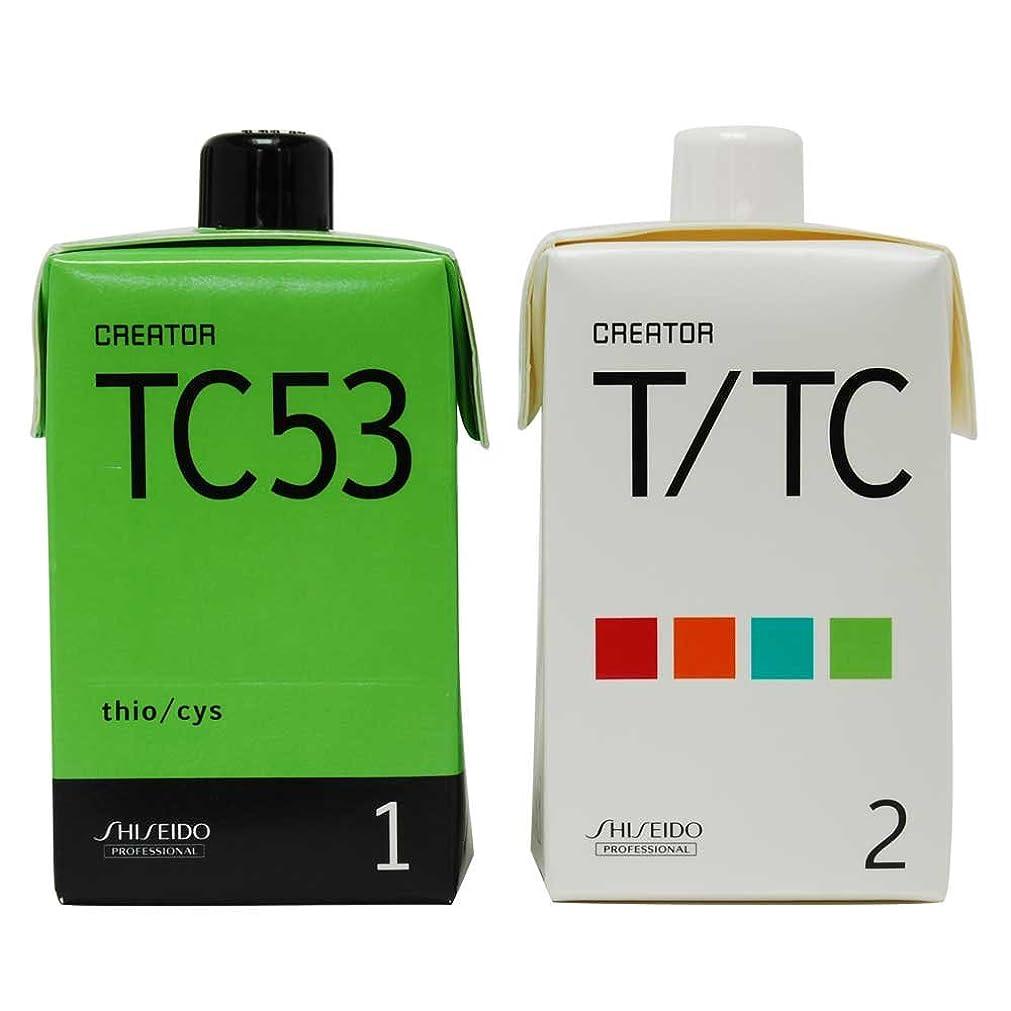 中毒シンプルさ資生堂 クリエイター TC53(プロ用パーマ液?1剤、2剤各400ml)