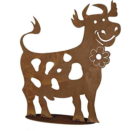 "Gartendeko \""Lustige Kuh\"" aus Metall"
